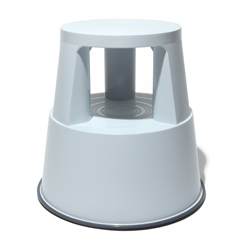 Plastic kickstool lt grey