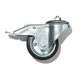 DH Rubber caster with brake