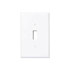 Wallplate 1-gang toggle white