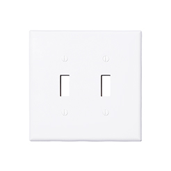 Wallplate 2-gang toggle white