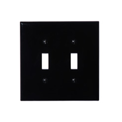 Wallplate 2-gang toggle black