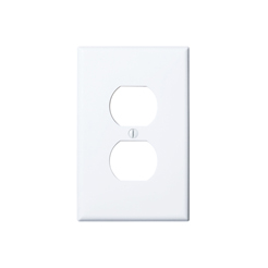 Wallplate 1-gang duplex white