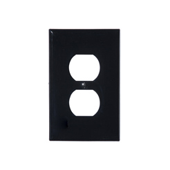 Wallplate 1-gang duplex black