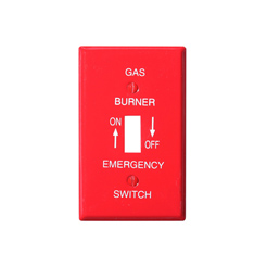 Wallplate red smooth gas