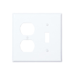 1 Toggle 1 duplex metal wallplate WH