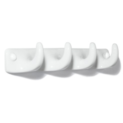 Porcelain 4rack hook white