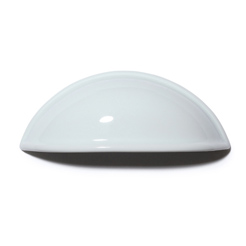 Porcelain drawer pull white