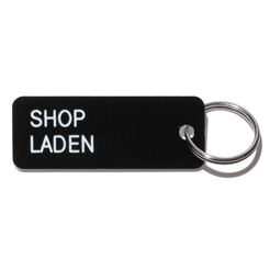 Key tag [SHOP] blk/wht