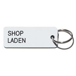 Key tag [SHOP] wht/blk
