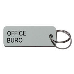 Key tag [OFFICE] grey/blk