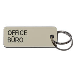 Key tag [OFFICE] almond/blk