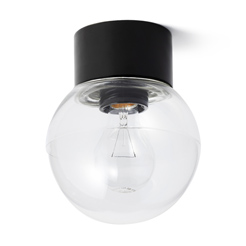 IFÖ Lamp globe clear black