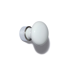 LF Porcelain/chrome knob 25mm