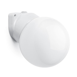 Lisilux wall-mounted fitting with globe E26