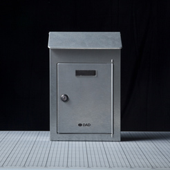 Steel mail box with door-1