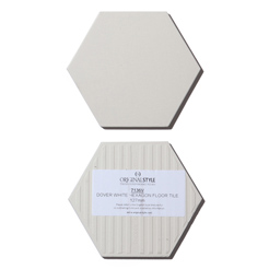 Classic hexagon tile white