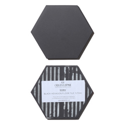 Classic hexagon tile black