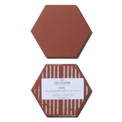 Classic hexagon tile brown