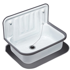 Quantex Utility sink white enameled