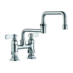 Double-joint faucet with nippel