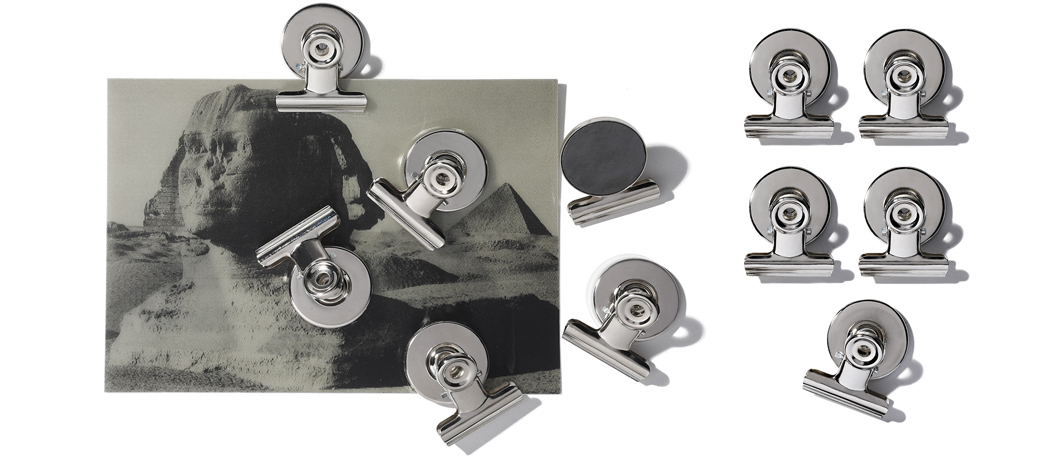 Stainless magnet clips x 6