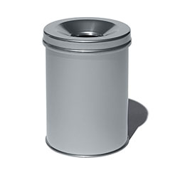 DR Open top trash can silver
