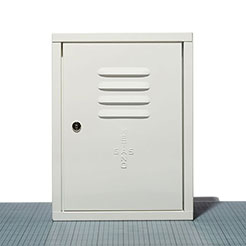 Steel door for gas meter wht