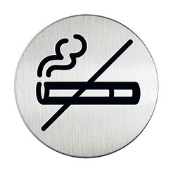 Adhesive no smoking sign