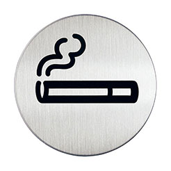 Adhesive smoking area sign