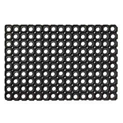 Rubber door mat black-2