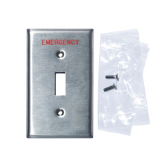 Wallplate 1-Gang Toggle Emergency