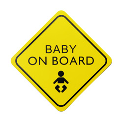 Baby on board window sign