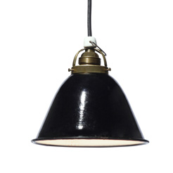 Vintage Enamel shade light blk-1