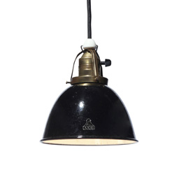 Vintage Enamel shade light blk/sw
