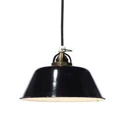 Vintage Enamel shade light blk-2