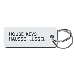Key tag [HOUSE] wht/blk