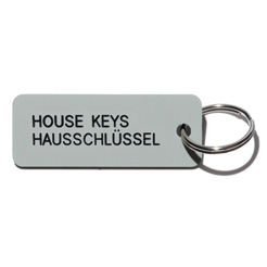 Key tag [HOUSE] gray/blk