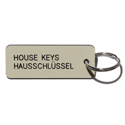 Key tag [HOUSE] almond/blk