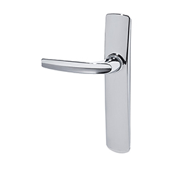 Door handle + plate chrome-1
