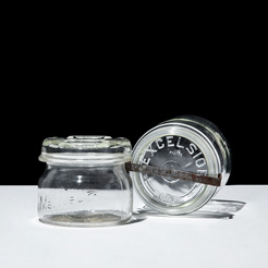 Vintage glass jar fr 0.5L