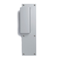 Door plate with handle aluminum-1