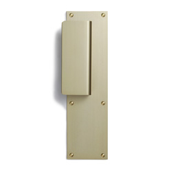 Door plate with handle mat gold-1