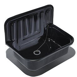 Utility sink black enameled