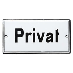 Vintage Enamel sign PRIVATE-2