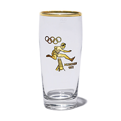 Vintage glass-Hurdles Olympic 1972