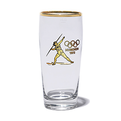 Vintage glass-Javelin Olympic 1972