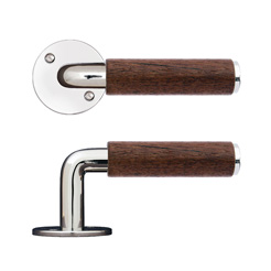 BF Teak/nickel handle