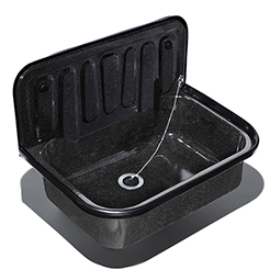 Utility sink blk-granite enameled